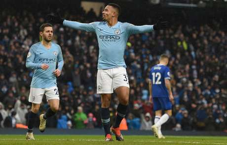 Jesus brilhou na vitória do City contra o Everton (Foto: AFP)