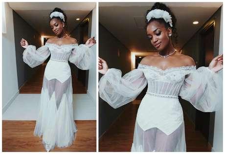 O segundo vestido de Iza Foto: Reprodução/Instagram/@iza)