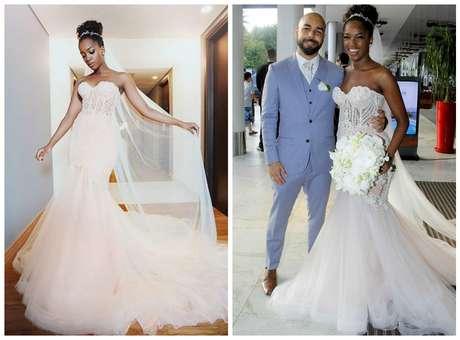Iza e o noivo Sergio Santos Fotos: Reprodução/Instagram/Wallace Barbosa/AgNews)