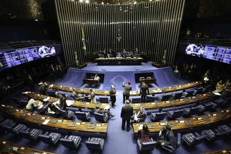 Imagem do Senado brasileiro, em Brasília (19/12/2018)