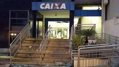 Agência da Caixa, um dos três bancos atacados por uma quadrilha em Atibaia, interior de São Paulo