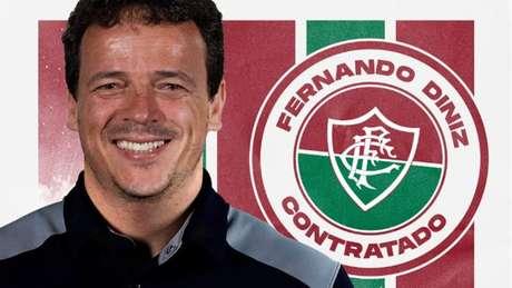 Fernando Diniz assina contrato por um ano com o Fluminense.
