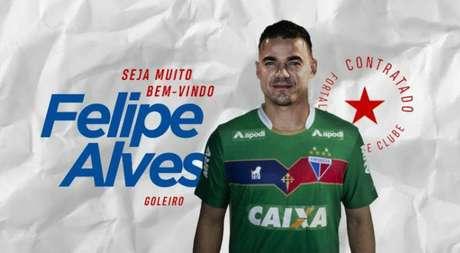 O goleiro Felipe Alves é o novo reforço do Fortaleza para 2019.