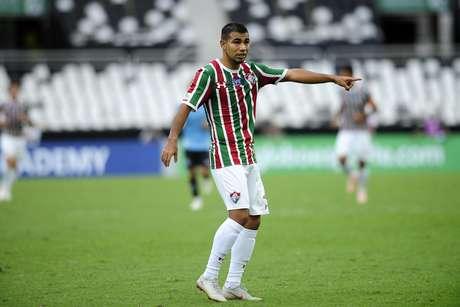 Sornoza durante partida entre Fluminense e Grêmio, válida pelo Campeonato Brasileiro 2018, no Estádio Nilton Santos, no Rio de Janeiro (RJ)