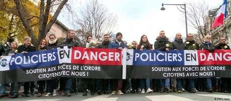 Marcha em homenagem à policial francesa Maggy Biskupski