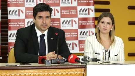 Promotores Luciano Miranda Meireles e Patricia Otoni Pereira, da força-tarefa do Ministério Público de Goiás que apura as denúncias de abuso sexual contra o médium João de Deus