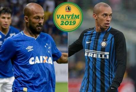 Bruno Silva, do Cruzeiro e Miranda, da Internazionale. (Foto: Divulgação)