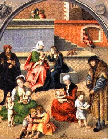 O lar, a capela do cristão (A família sagrada de L. Cranach)