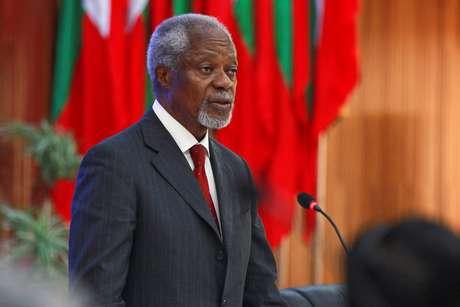 Ex-secretário geral da ONU Kofi Annan em comissão consultiva em Myanmar, em 2016