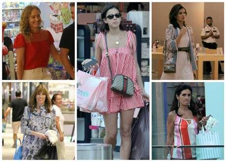Famosas no shopping (Fotos: AgNews)