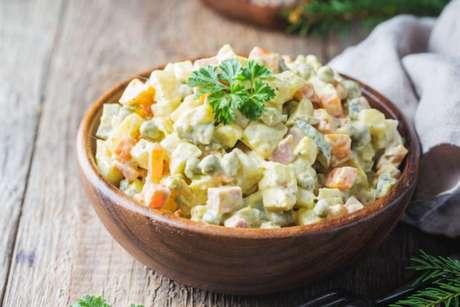 Salada de batata para o Natal