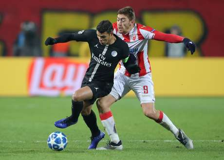 O zagueiro Thiago Silva em campo pelo PSG