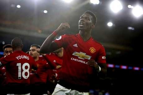 Pogba foi um dos destaques do United (Foto: AFP)