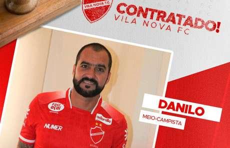 Danilo é contratado pelo Vila Nova por 1 ano.