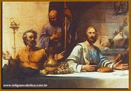 Cristo com seus apóstolos