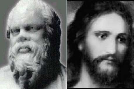 Sócrates ( 469 –399 a.C.) e  Jesus Cristo ( 0 –33)