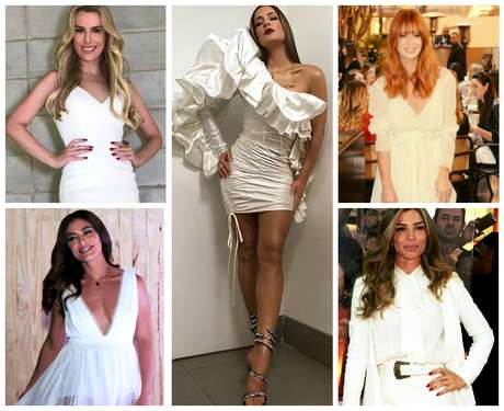 Famosas de branco: Inspiração para o Réveillon (Fotos: AgNews/Reprodução/Instagram)