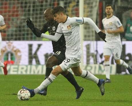 Havertz é o destaque do Leverkusen (Foto: AFP)