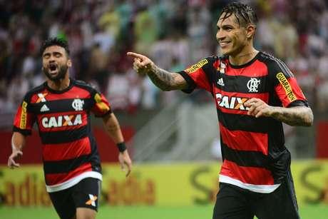 O atacante peruano, quando ainda era jogador do Flamengo