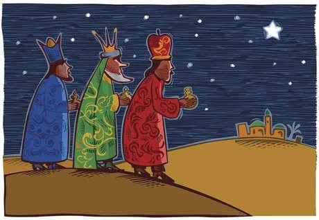 Dia 6 de janeiro, data que se celebra o dia de Reis ou dos Três Reis Magos Melquior, Baltasar e Gaspar