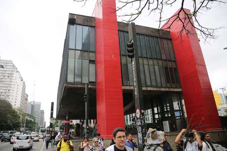 Vista do Masp (Museu de Arte de São Paulo), na Avenida Paulista, em São Paulo (SP)