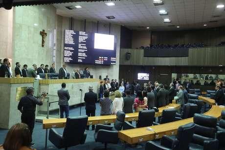 Câmara Municipal de São Paulo (SP) durante a segunda votação do projeto de lei 621/2016, que trata da reforma da previdência municipal