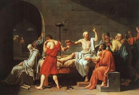 Sócrates (470-399 a.C.) foi julgado no areópago