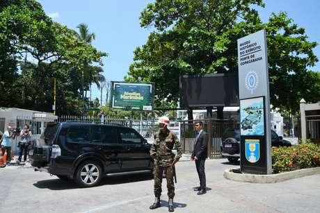 O presidente eleito Jair Bolsonaro e o primeiro-ministro Benjamin Netanyhu se reuniram no Rio de Janeiro sob forte esquema de segurança