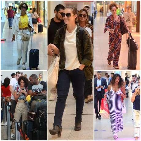 Looks das famosas no aeroporto (Fotos: AgNews)