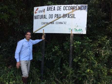 Ricardo Cardim visitou seis Estados para a produção do livro; na Bahia, encontrou alguns dos poucos trechos remanescentes com exemplares centenários de pau-brasil