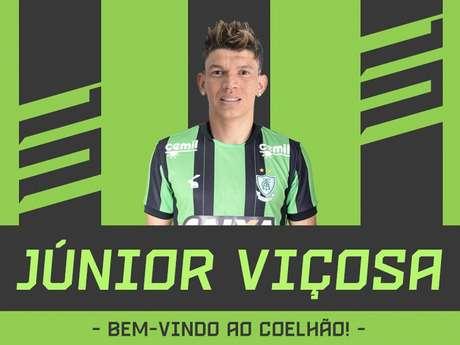 Júnior Viçosa é o sétimo reforço do Coelho para a temporada 2019- Divulgação América-MG