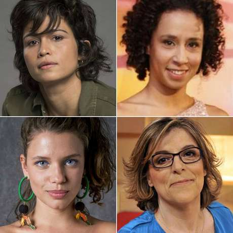 Acima, Nanda Costa e Thalita Carauta; abaixo, Bruna Linzmeyer e Barbara Gancia: o uso da visibilidade midiática para defender o respeito às lésbicas e às mulheres em geral