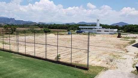 Fluminense dá início à construção de seu terceiro campo no CT.
