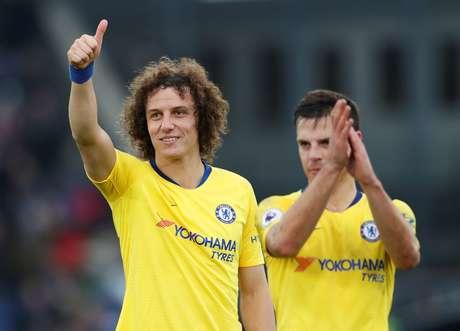 David Luiz comemora gol do Chelsea
