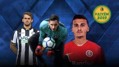 Felipe Vizeu, Gatito e Guilherme Parede são destaques no Vaivém deste domingo (Arte: Lance!)