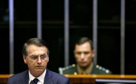 Bolsonaro discursou no Congresso Nacional e foi empossado presidente da República