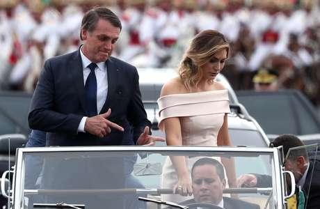 Bolsonaro durante a cerimônia de posse