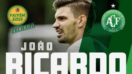João Ricardo é o novo goleiro da Chapecoense (Foto: Divulgação/Twitter)