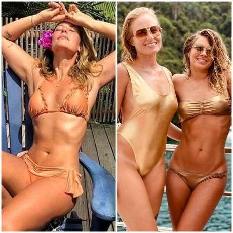 Famosas apostam em moda praia metalizada (Fotos: Instagram/Reprodução)
