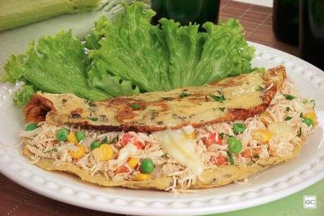Omelete de frango | Produção: Aemi Maeda