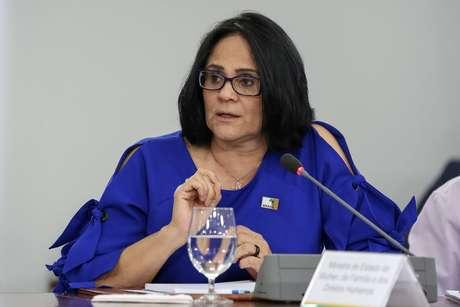 Damares Alves em reunião no Palácio do Planalto