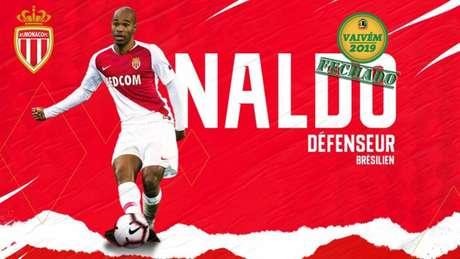 Naldo foi anunciado nesta quinta-feira como reforço do Monaco (Foto: Divulgação)