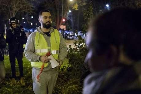 """Eric Drouet é um dos líderes do movimento dos """"coletes amarelos"""""""