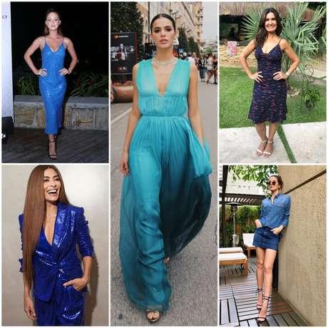 Famosas vestem azul (Fotos: AgNews - Instagram/Reprodução)