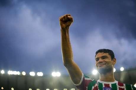 O jogador Digão do Fluminense durante partida válida pela 38ª rodada do Brasileirão no estádio do Maracanã