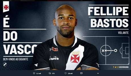 Fellipe Bastos conhece bem o clube de São Januário