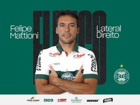 Felipe Mattioni jogou a Série B de 2018 pelo Juventude (Foto: Divulgação/ Coritiba)