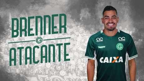 Goiás oficializa Brenner como novo reforço para 2019 (Foto: Reprodução/Twitter)