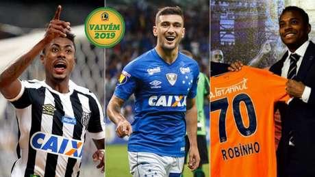 Bruno Henrique, Arrascaeta e Robinho (Foto: Divulgação)