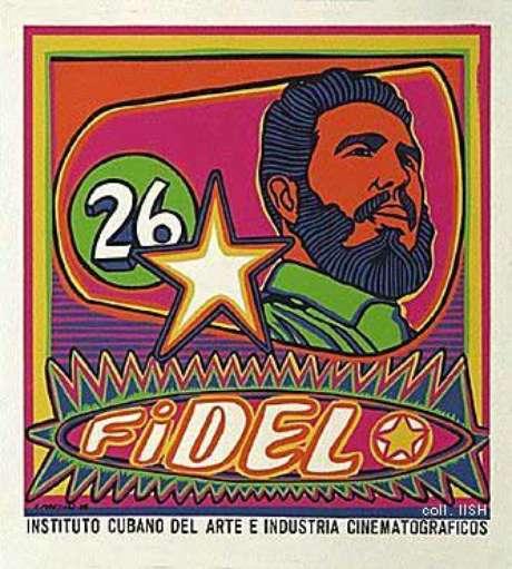 Fidel Castro e o M-26 ( pôster cubano)